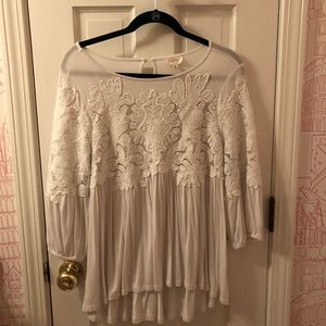 Anthropologie Deletta Flower Top